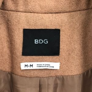 BDG Jackets & Coats - Camel Jacket with Faux Fur Sleeves